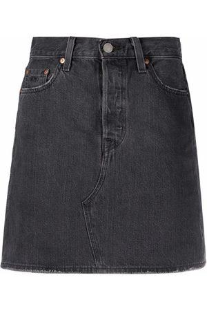 Levi's High-waist deconstructed denim skirt