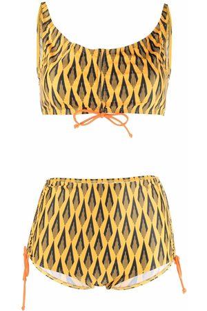 Paco rabanne Ciao Paco geometric-print bikini