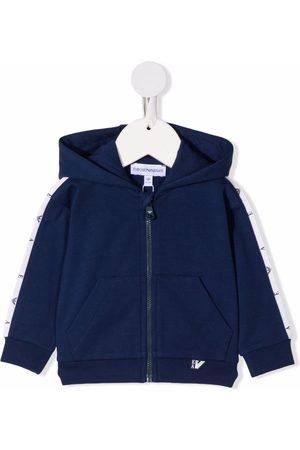Emporio Armani Hooded zip-up track jacket