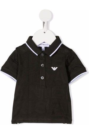 Emporio Armani Logo-patch short-sleeved polo shirt
