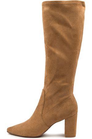 Django & Juliette Women Knee High Boots - Norass Dj Camel Boots Womens Shoes Casual Long Boots