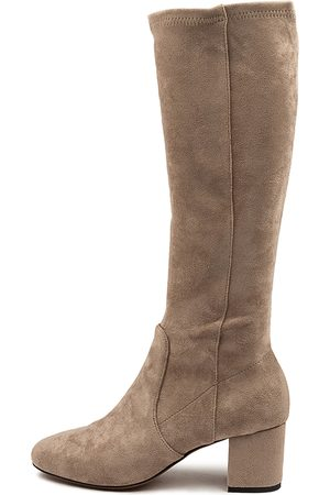 Mollini Celam Mo Taupe Boots Womens Shoes Casual Long Boots