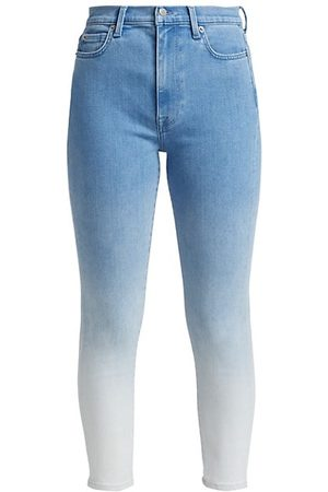 7 for all Mankind Ombre Ankle Skinny Jeans