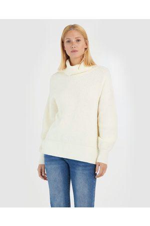 Forcast Hattie Roll Neck Sweater - Jumpers & Cardigans (Ivory) Hattie Roll Neck Sweater