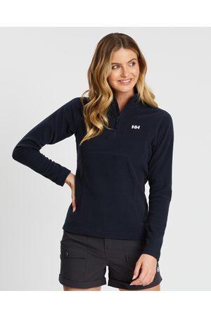 Helly Hansen Women Fleece Jackets - Daybreaker 1 2 Zip Fleece Jacket - Clothing (Navy) Daybreaker 1-2 Zip Fleece Jacket