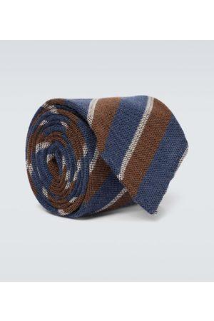 Thom Sweeney Men Neckties - Striped wool and silk tie