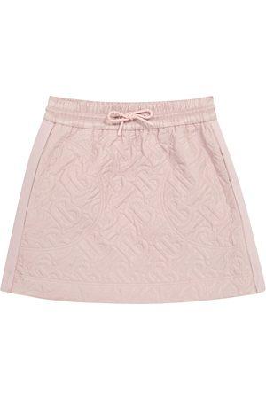 Burberry Girls Skirts - Monogram quilted skirt