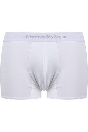 Ermenegildo Zegna Men Boxer Shorts - Logo-waist cotton boxer shorts