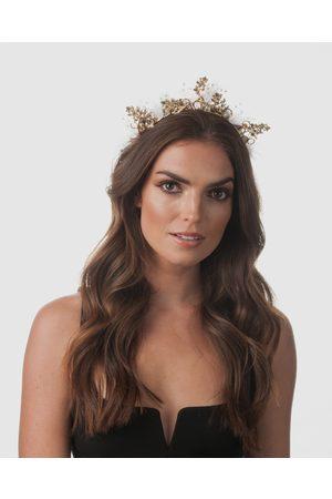 Olga Berg Women Headbands - Lillian Metal Tulle Headband - Fascinators Lillian Metal Tulle Headband