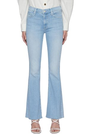 Mother Women Travel Bags - The Weekender' embroidered back flare hem jeans