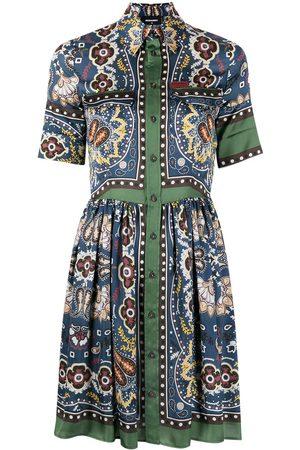 Dsquared2 Women Printed Dresses - Paisley-print shirtdress