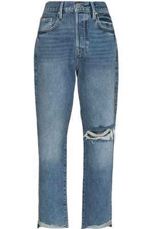 Frame Women Straight - Le Original ripped cropped jeans