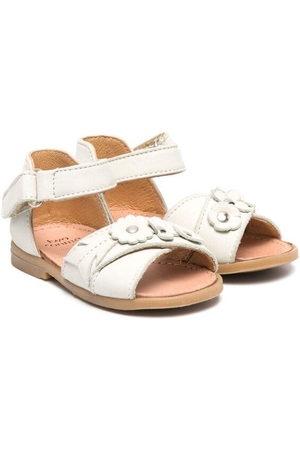 PèPè Floral appliqué leather sandals