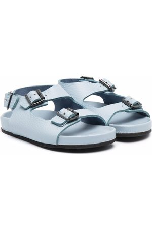 GALLUCCI Girls Sandals - Buckled leather sandals