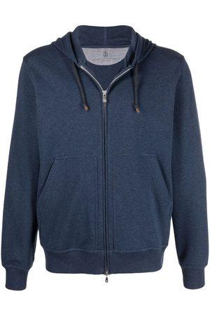 Brunello Cucinelli Men Hoodies - Zip-up hooded sweatshirt