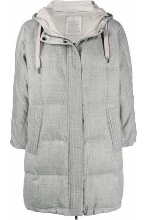 Brunello Cucinelli Cropped-sleeve padded jacket