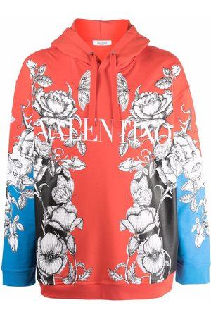 VALENTINO Dark Blooming print hoodie