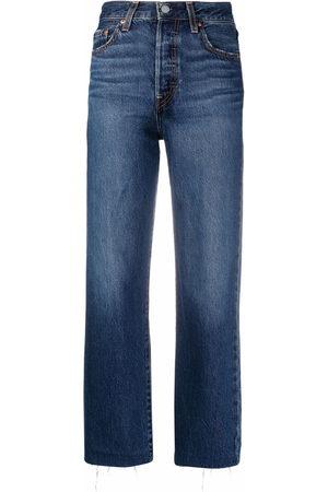 Levi's Women Boyfriend - High-rise straight-leg jeans