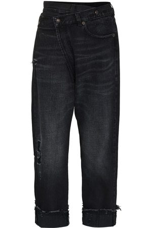 R13 Women Straight - Crossover waistband jeans