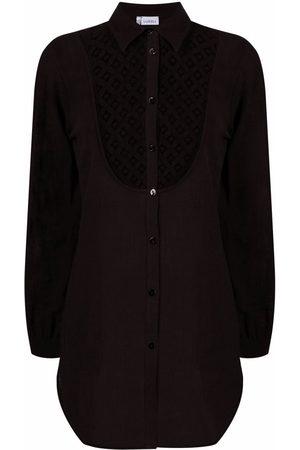 La Perla Women Shirts - Cut out-detail button-up shirt