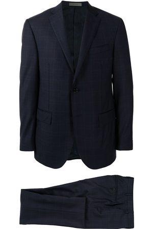 corneliani Men Suits - Academy check-pattern suit