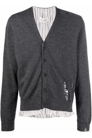 Maison Margiela Men Cardigans - Distressed-detail knit cardigan