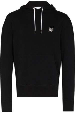 Maison Kitsuné Fox-patch cotton hoodie