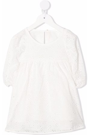 ZIMMERMANN Girls Blouses - Broderie-anglaise smocked blouse