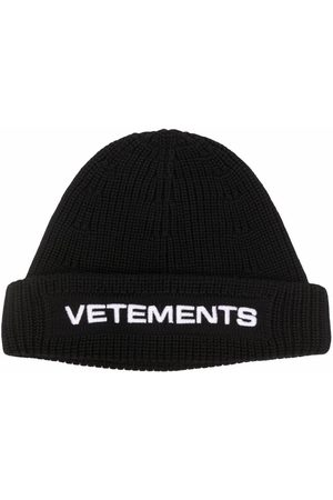 Vetements Embroidered-logo ribbed beanie