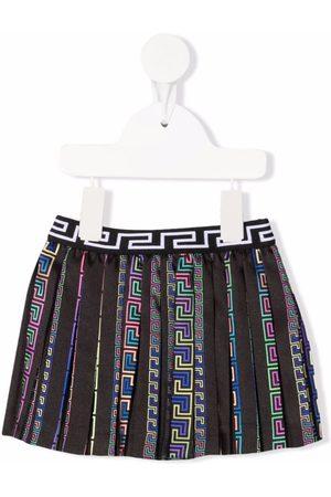 VERSACE Girls Printed Skirts - Greca pattern pleated skirt