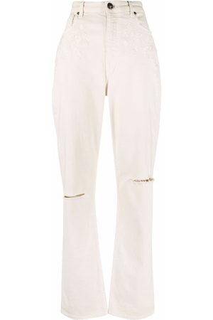 Etro High-waisted straight leg jeans