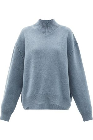 Raey - Responsible-wool Displaced-sleeve V-neck Sweater - Womens