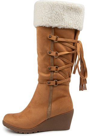 I LOVE BILLY Women Knee High Boots - Bettyboo Il Tan Cream Boots Womens Shoes Casual Long Boots