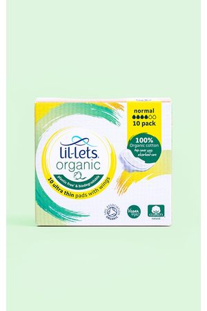 PRETTYLITTLETHING Women Fragrances - Lil-Lets Organic Pads Normal 10 Pack