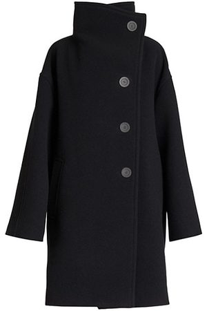 Acne Studios Oschelle Boiled Wool-Blend Funnelneck Coat