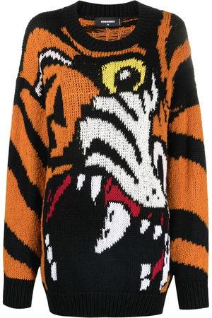 Dsquared2 Tiger-intarsia jumper