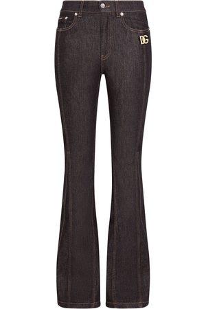 Dolce & Gabbana Logo-patch flared jeans