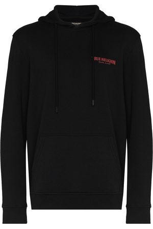 True Religion Men Hoodies - Logo-print hooded sweatshirt
