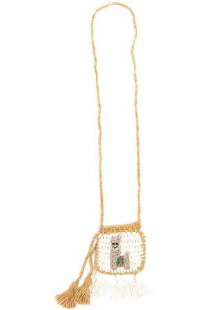 Alanui Knitted tassel-detail purse