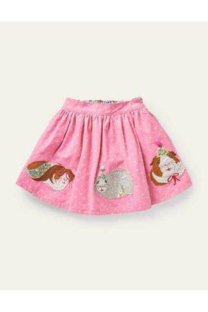 Boden Cord Appliqué Skirt Girls