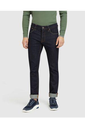 Oxford Men Straight - Marty Rinse Wash Denim Jeans - Tapered Marty Rinse Wash Denim Jeans