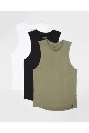 Staple Superior Staple Organic Muscle Tee 3 Pack - T-Shirts & Singlets (Multi) Staple Organic Muscle Tee - 3-Pack