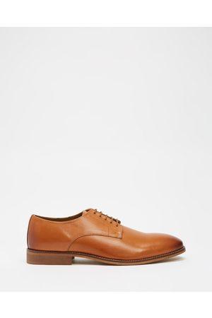 Double Oak Mills Baxt Leather Derby - Dress Shoes (Tan) Baxt Leather Derby