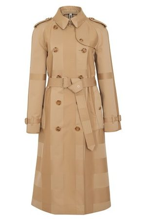 Burberry Women Trench Coats - Checked trench coat