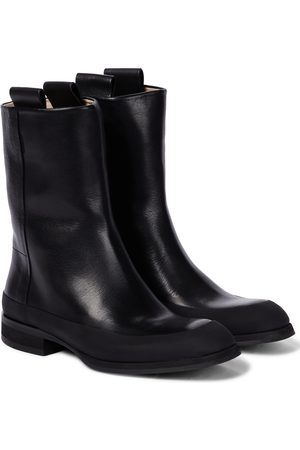 The Row Grunge leather boots
