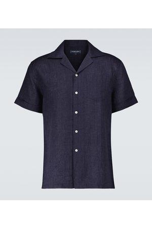 Frescobol Carioca Thomas linen camp-collar shirt