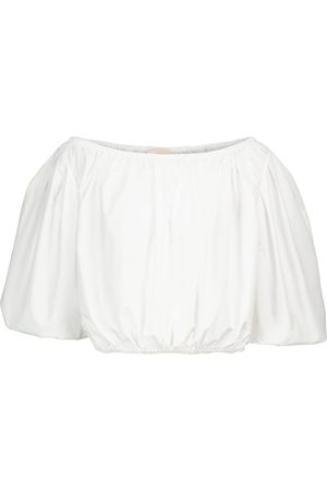 Tory Burch Cropped cotton blouse