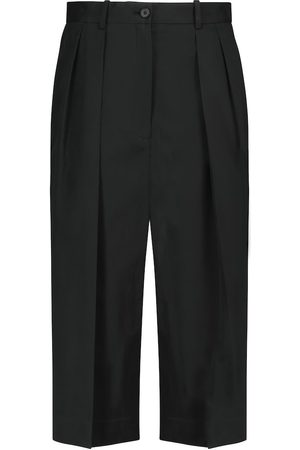 The Row Lisa cotton and cashmere culottes