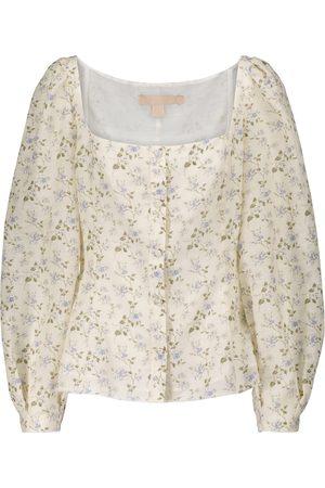 BROCK COLLECTION Women Blouses - Floral linen-blend blouse