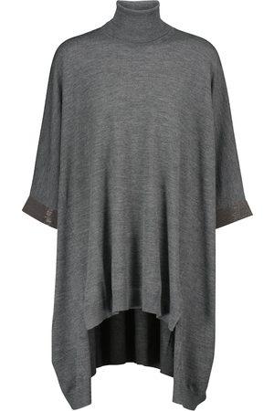 Brunello Cucinelli Women Turtlenecks - Turtleneck wool and cashmere sweater